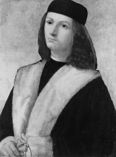 Portrait of a Young Man with Fur Collar