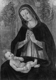 Madonna and Child with Two Seraphim