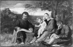 The Holy Family with an Evangelist