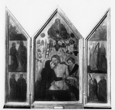 Triptych with the Man of Sorrows, the Arma Christi, the Annunciation, and Saints