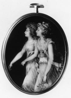 Georgiana, Duchess of Devonshire, and Lady Elisabeth Foster