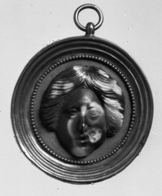 Cameo with the Head of a Woman Set in a Pendant