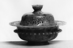 Covered Dish with Floral and Archaic Designs