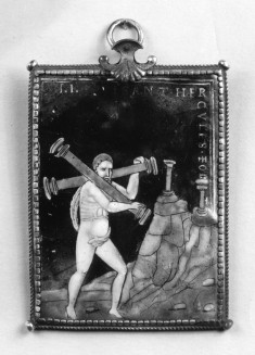 Hercules Carries the Two Columns