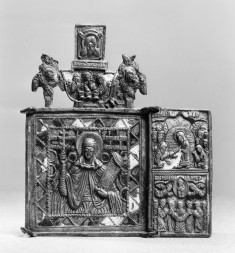 Parts of a Triptych with St. Pereskeve, the Resurrection, and the Ascension