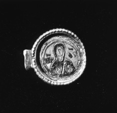Medallion with Christ Pantokrator and the Virgin