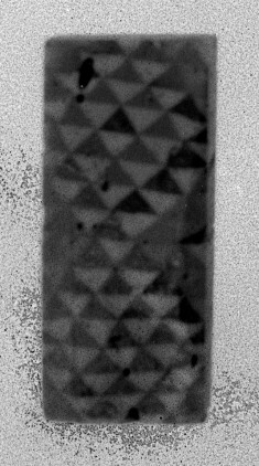 Inlay Fragment with Diamond Pattern
