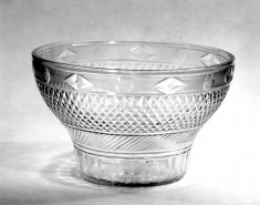 Flower Bowl of Clear Glass