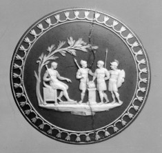 Medallion with Soldiers before Seated Leader