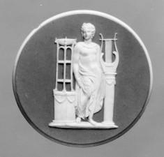 Medallion with Apollo