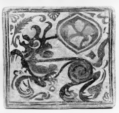 Ceiling tile (socarrat) with a dragon