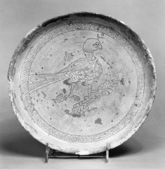 Dish with a Falcon