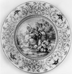Plate with Abduction of Europa