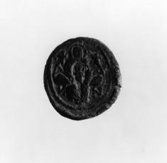 Pilgrim token with Virgin and Child