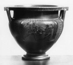 Column Krater with Warriors and Quadriga