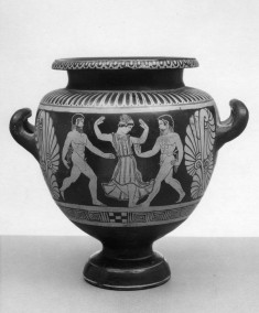 Stamnos with Warrior's Departure and Dancer with Satyrs