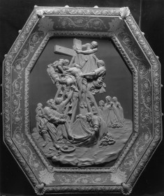 Plaque with Deposition from the Cross, after a painting by Rubens