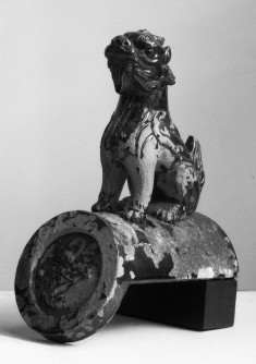 Roof Tile with Seated chimera, circular medallion on end