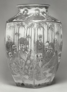 Vase with Arahats and Sages in a Bamboo Grove