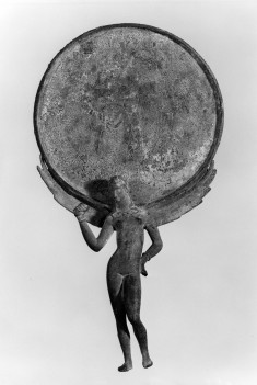 Mirror with Female Figure and Engraved Scene