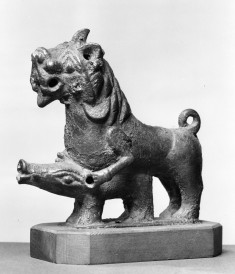 Lion Attacking a Boar
