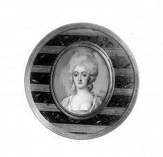 Circular Snuffbox with Portrait of a Lady