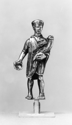 Youth Holding a Cornucopia and Dish