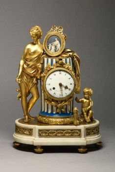 Clock with the Figure of Friendship Holding a Medallion
