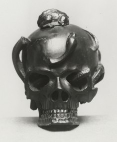 Flask in the Form of a Skull