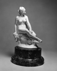 A Nereid Sitting on a Conch Shell