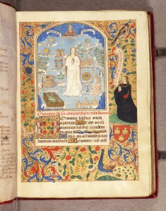 Leaf from Book of Hours: December Calendar, Mary in the Closed Garden