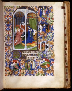Leaf from Book of Hours: The Annunciation