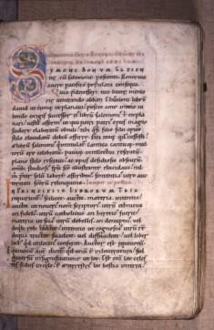 Leaf from Expositio in cantica canticorum; Sigillum sanctae Mariae; Neocosmus