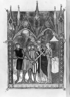 Leaf from Psalter-Hours of Brother Guimier: Martyrdom of Thomas Becket