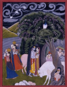 Krishna and Radha Taking Shelter from the Rain