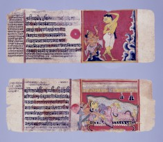 """Two Illustrated Pages from a """"Kalpasutra"""" Manuscript"""