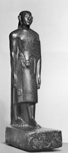 Standing Priest Wearing Leopard Skin