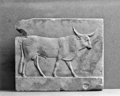 Sculptor's Model with a Relief of a Bull