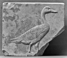 Sculptor's Model with a Relief of a Goose