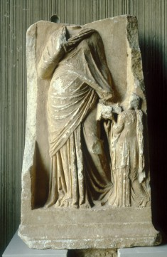 Grave Relief of a Woman Depicted as a Muse