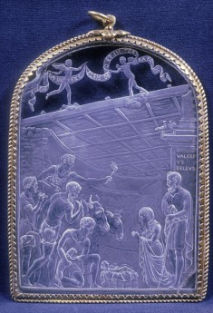 Plaque with the Adoration of the Shepherds