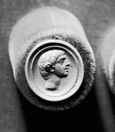 Intaglio with Head of a Man Set in a Ring
