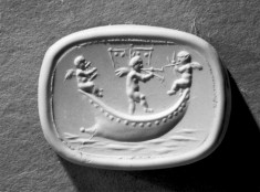 Intaglio with Three Cupids in a Boat