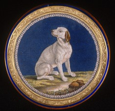 Snuffbox with Mosaic of a Seated Dog
