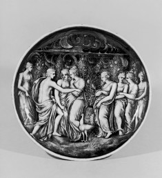 Footed Dish with Venus Accusing Psyche of Impiety