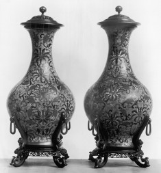 Pair of Covered Vases