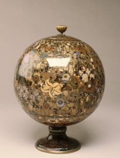 Spherical Jar with Flowers in a Basket