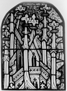 Window Panel with Architectural Detail