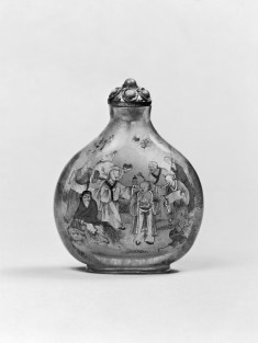 Snuff Bottle with Luohans [Lohans]