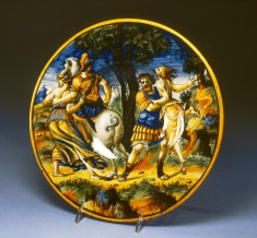 Dish with Castor and Pollux Rescuing Helen